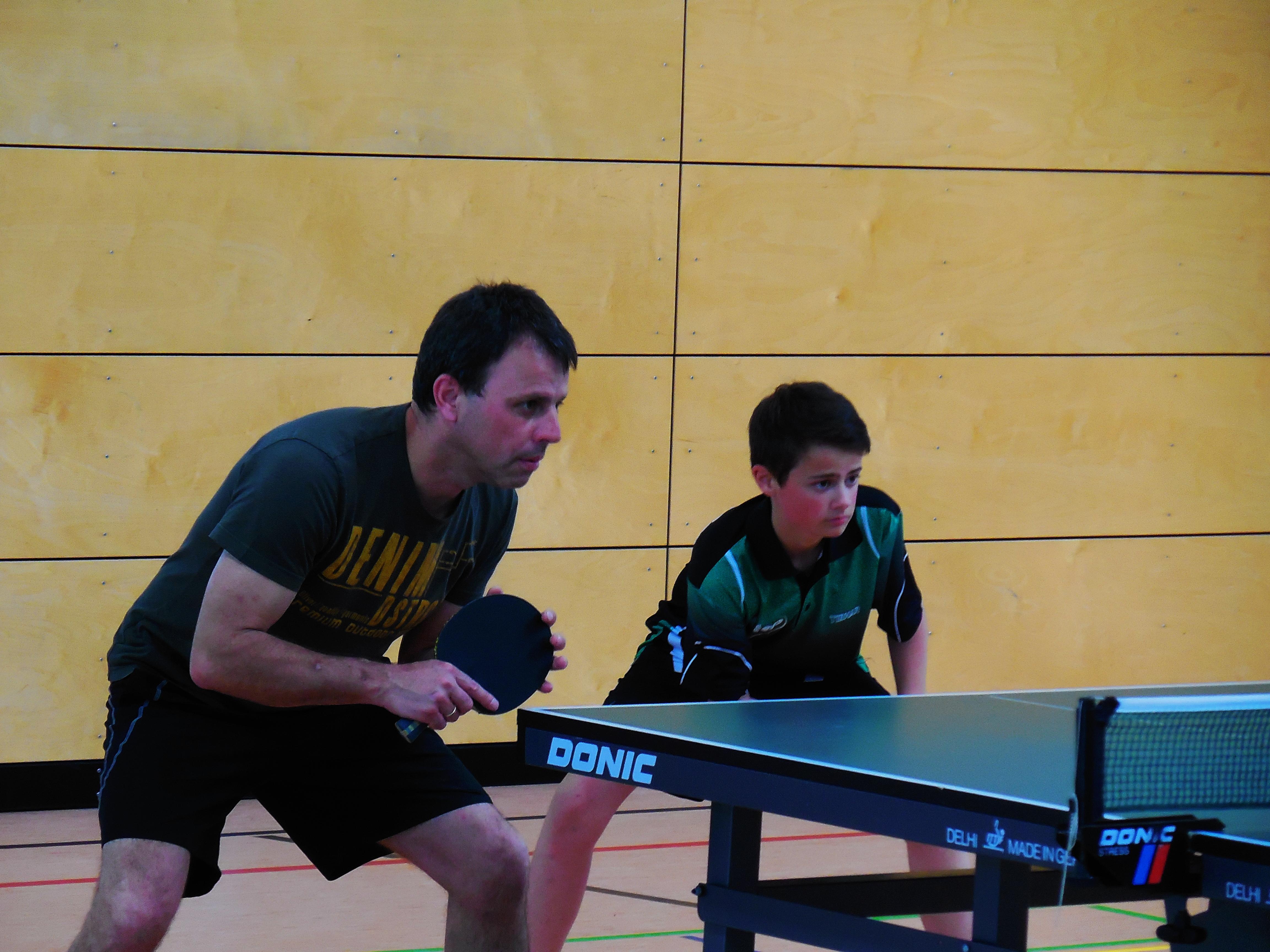 Sieger Familienduell 2014 Moritz und Armin Senger